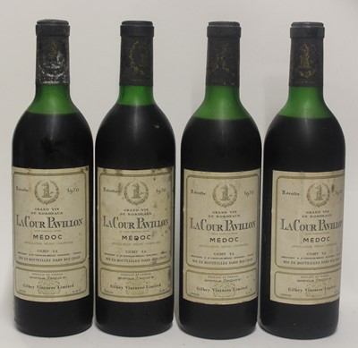 Lot 1045-LaCour Pavillon, 1970, Medoc, four bottles