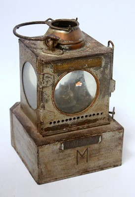 Lot 6 - A Welch patent LNER signal lamp inner by...