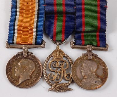 Lot 2-A Naval group of three medals to include...