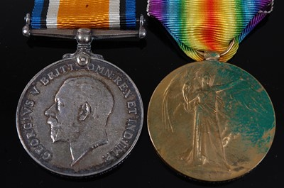 Lot 4-A WW I British War and Victory pair, naming...
