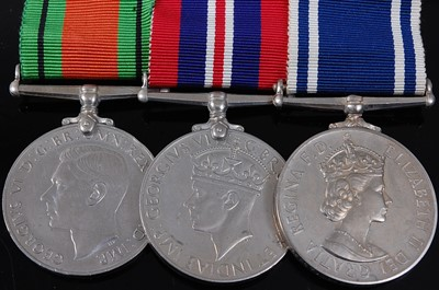 Lot 5-A group of three medals to include WW II...
