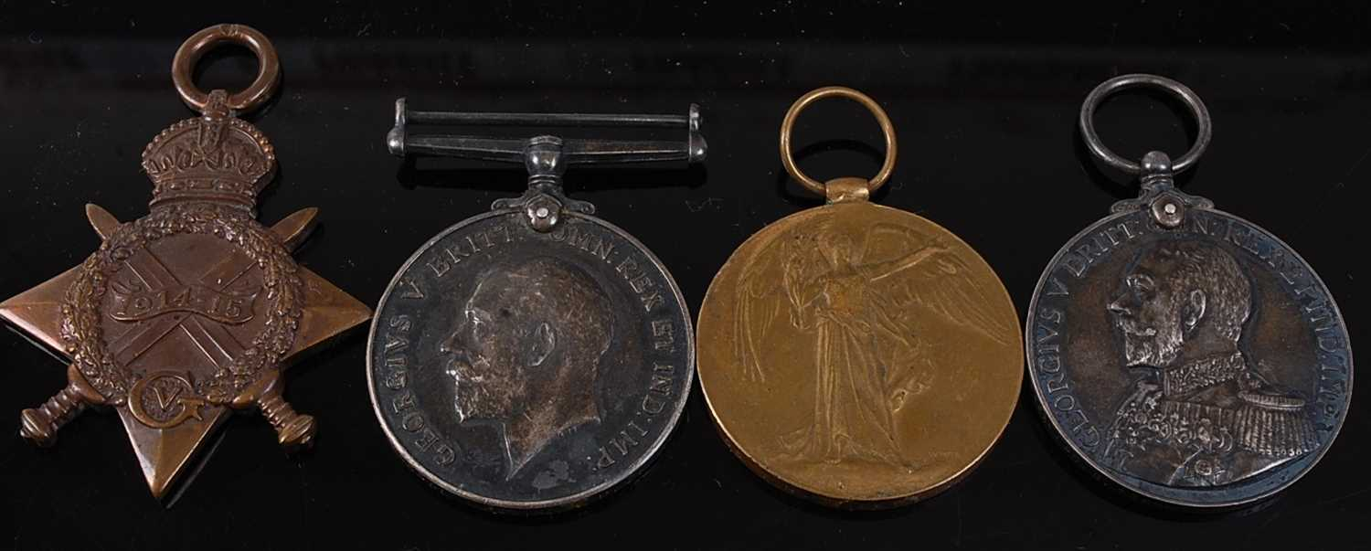 Lot 6-A WW I Naval group of four medals to include...