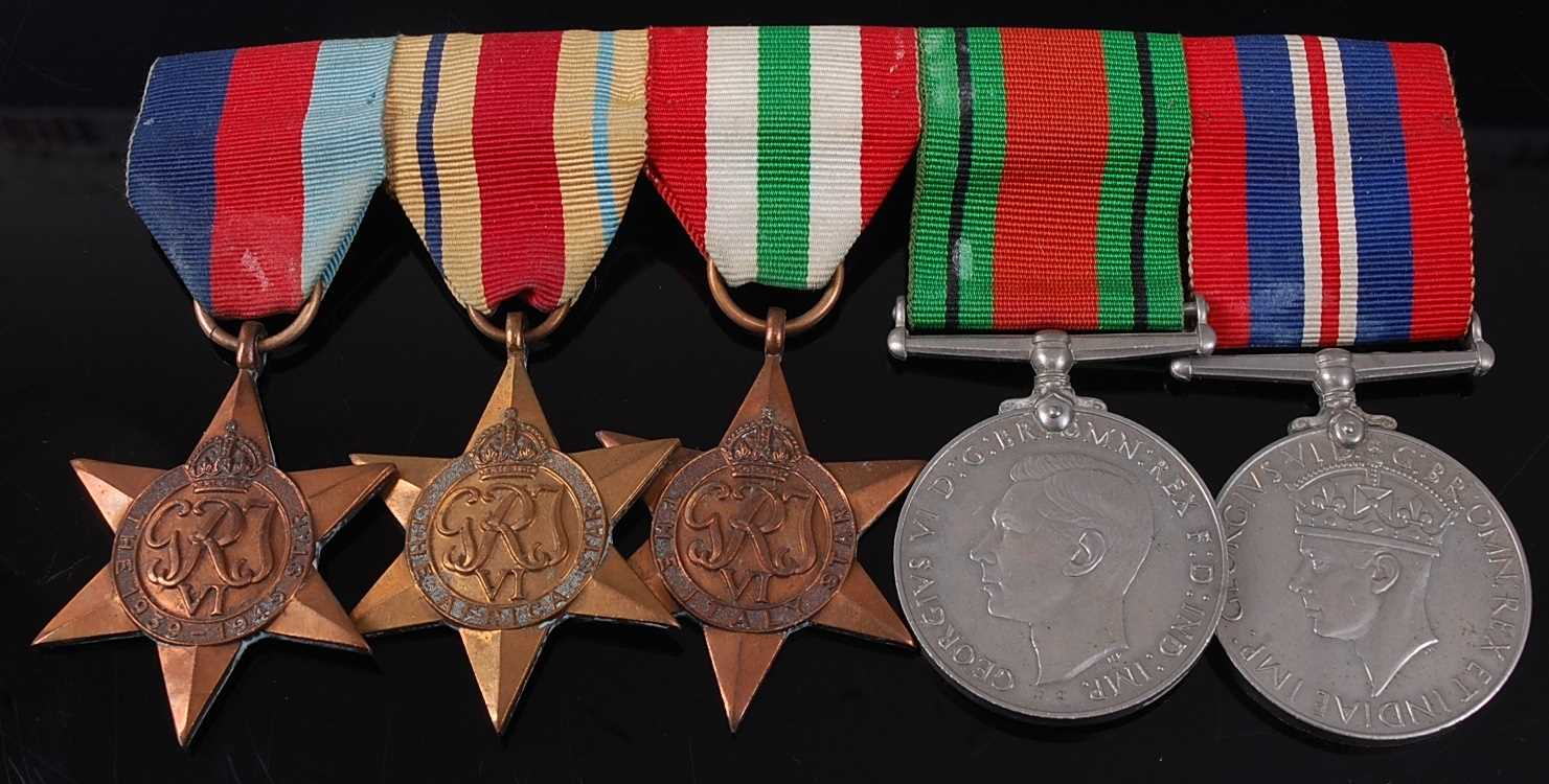 Lot 7-A WW II group of five medals to include...