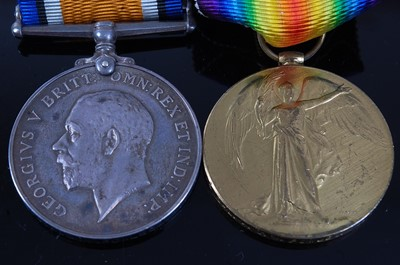 Lot 11-A WW I British War and Victory pair, naming...