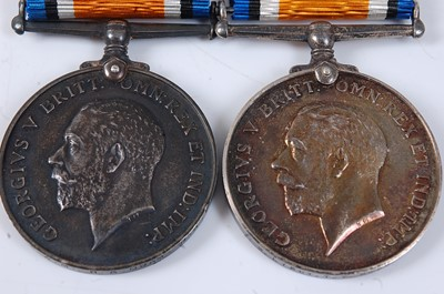 Lot 17-Two WW I British War medals, naming 2. LIEUT....