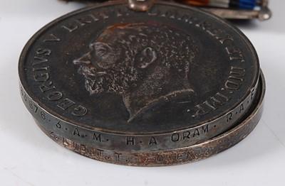 Lot 17-Two WW I British War medals, naming 2. LIEUT....