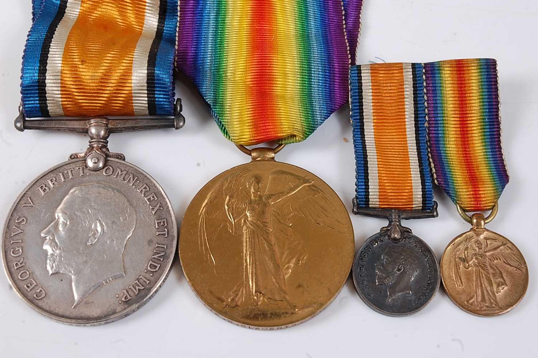 Lot 20-A WW I British War and Victory pair, naming...