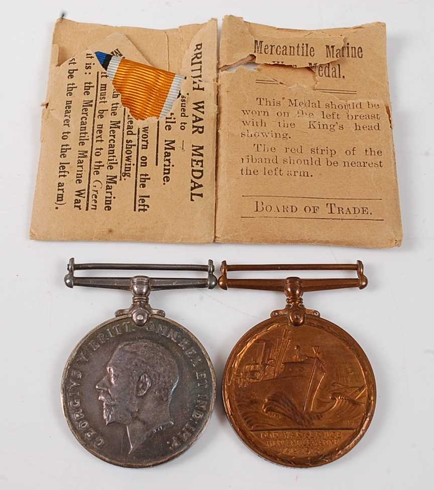 Lot 23-A WW I pair to include British War medal and...