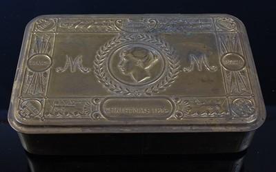 Lot 25-A WW I Princess Mary Christmas gift tin with...