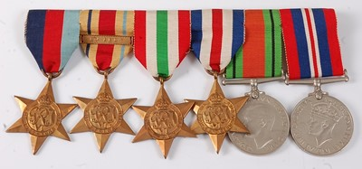 Lot 30-A group of six WW II medals to include...