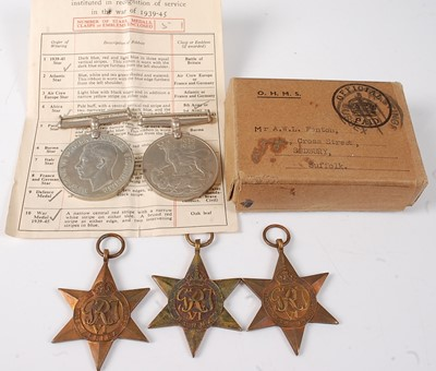 Lot 31-A group of five WW II medals, to include...
