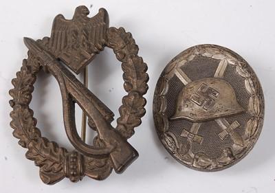 Lot 34-A German Third Reich Infantry Assault badge...