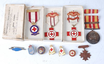 Lot 38-A British Red Cross Society enamelled breast...