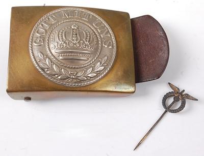 Lot 44-An Imperial German Other Ranks bi-metal belt...