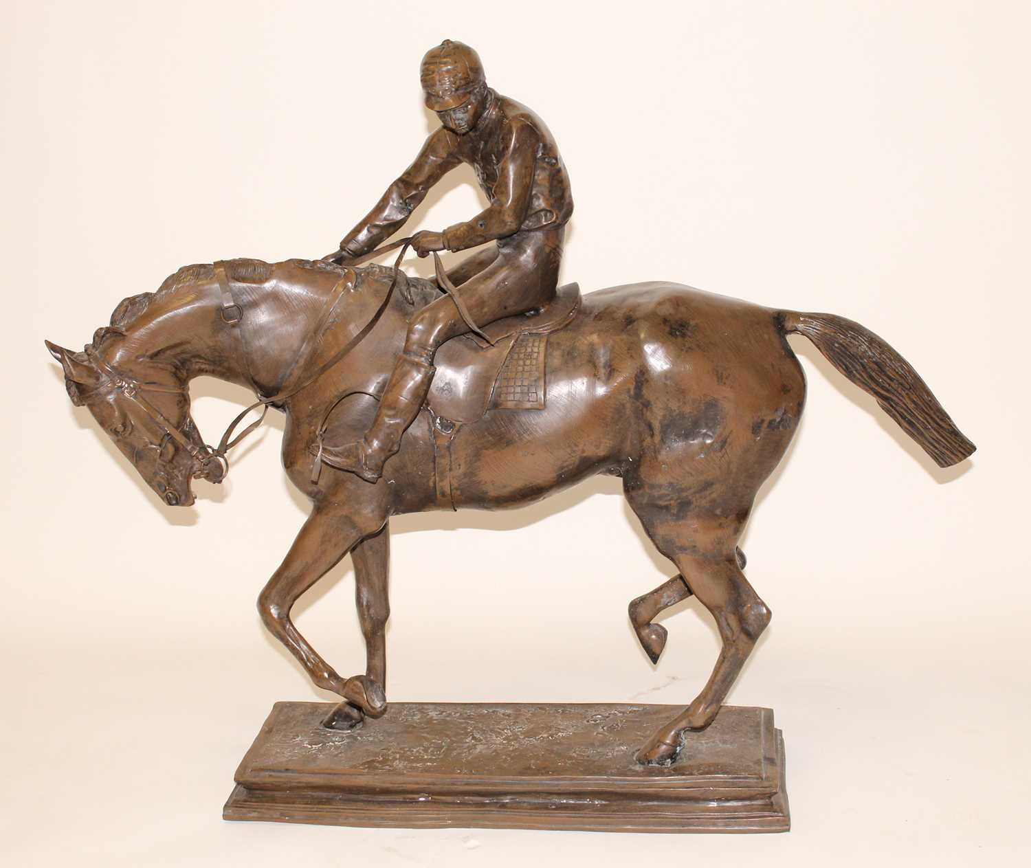 Lot 250 - A large contemporary bronze model of a...