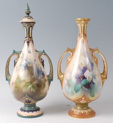 Lot 2038-A matched pair of Royal Worcester and Hadley's...