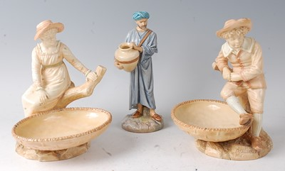 Lot 2041-A pair of Royal Worcester figural comports by...