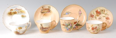 Lot 2049-A Royal Worcester porcelain cabinet cup and...