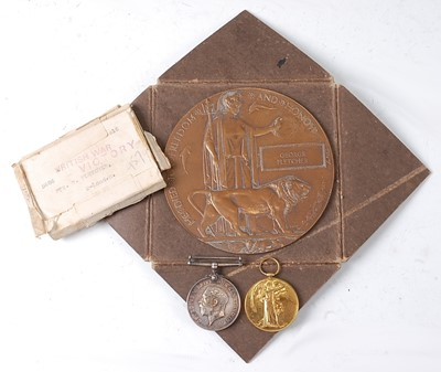 Lot 45-A WW I Casualtygroup to include a bronze...