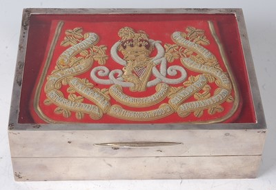 Lot 47-A George VI silver table cigar box of typical...