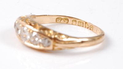 Lot 2506 - A late Victorian 18ct yellow gold and diamond...