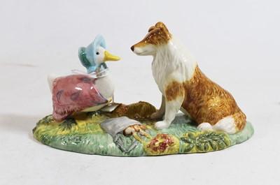 Lot 6 - A Beswick Beatrix Potter figure 'Kep & Jemina',...