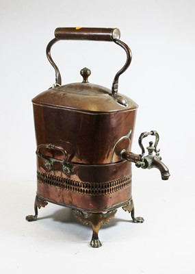 Lot 8 - A 19th century copper kettle, with copper tap...