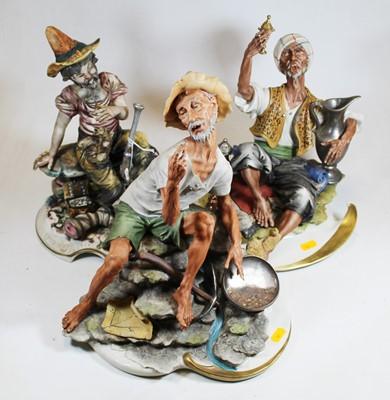 Lot 20 - A Capo di Monte Naples pottery figure of a...