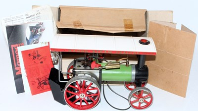 Lot 21 - A Mamod TE1 traction engine of usual...