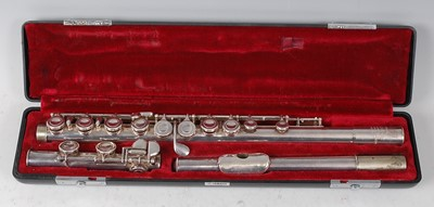 """Lot 504 - A """"Romilly"""" Graduate flute made for Rudall..."""