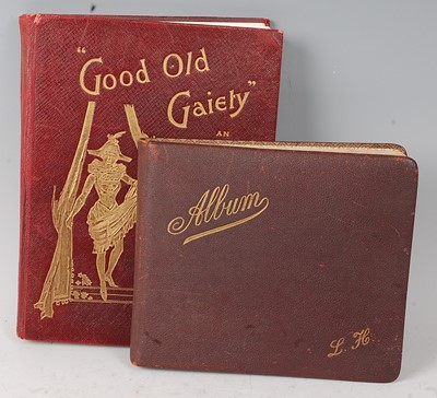 Lot 544 - An early 20th century leather bound autograph...
