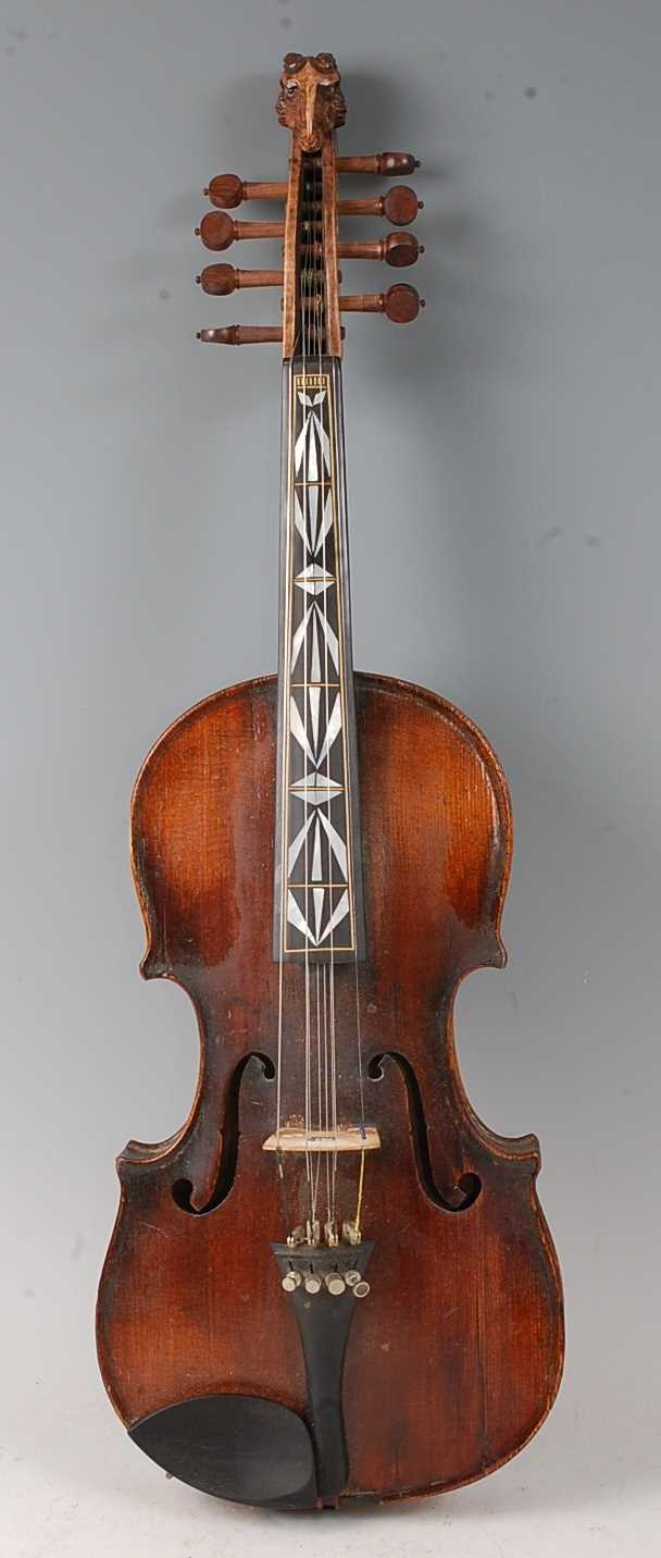 Lot 501 - An early 20th century Continental eight string...