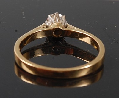 Lot 2531 - An 18ct yellow and white gold diamond single...