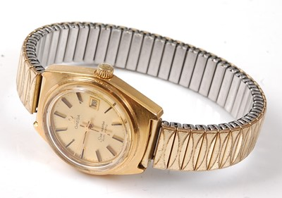 Lot 2536 - A lady's gold plated Omega Seamaster automatic...