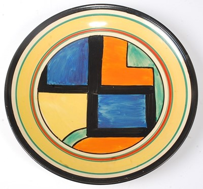 Lot 6 - A Clarice Cliff Mondrian pattern pottery wall...