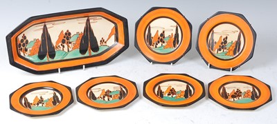 Lot 7 - A Clarice Cliff Orange Trees and House pattern...
