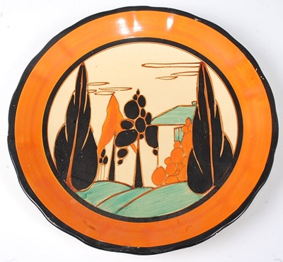 Lot 4 - A Clarice Cliff Orange Trees and House pattern...
