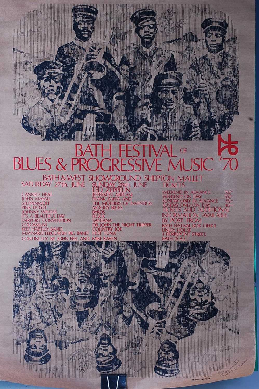 Lot 511 - Bath Festival of Blues & Progressive Music '70,...