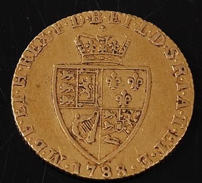 Lot Great Britain, 1788 gold spade guinea, George...