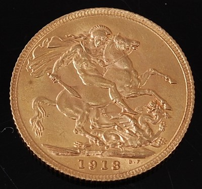 Lot 2049 - Great Britain, 1913 gold full sovereign,...