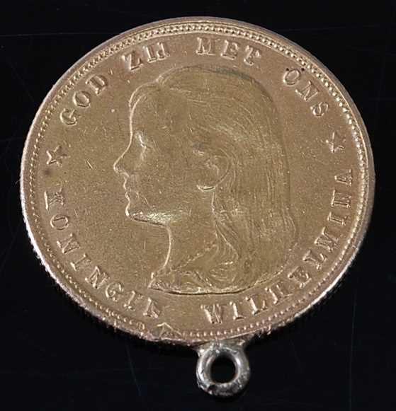 Lot 2063 - Netherlands, 1897 gold 10 gulden, Wilhelmina...