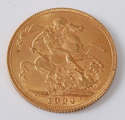 Lot 2007 - Great Britain, 1904 gold full sovereign,...