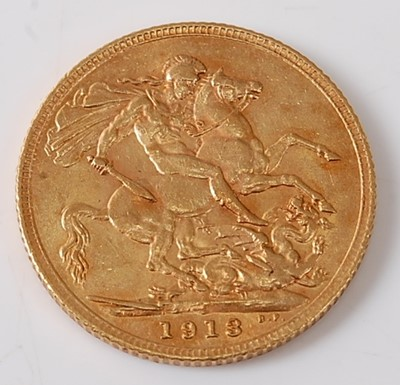 Lot 2014 - Great Britain, 1913 gold full sovereign,...