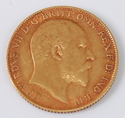 Lot 2023 - Great Britain, 1908 gold half sovereign,...