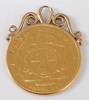 Lot 2004 - South Africa, 1898 gold 1 pond, Stephanus...