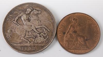 Lot 2086 - Great Britain, 1892 crown, Victoria jubilee...