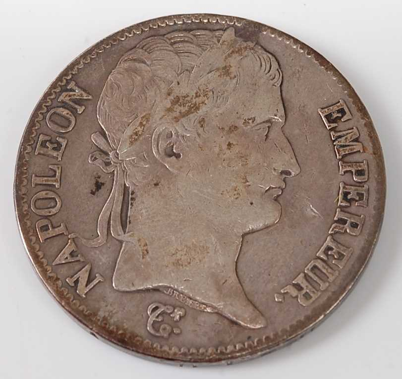 Lot 2088 - France, 1814 5 francs, Napoleon I laureate...