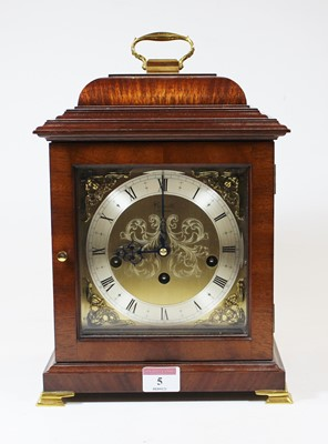 Lot 5 - An 18th century style walnut bracket clock,...