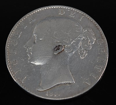 Lot 2104 - Great Britain, 1844 crown, Victoria young bust,...