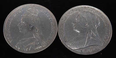 Lot 2107 - Great Britain, 1889 crown, Victoria jubilee...
